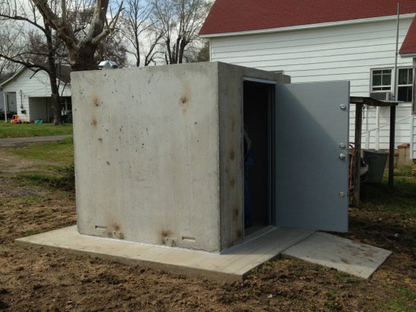 Leaking Garage Tent : Concrete safe rooms photo gallery in arkansas