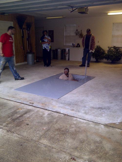 Garage Floor Shelter Photos Arkansas Storm Shelters