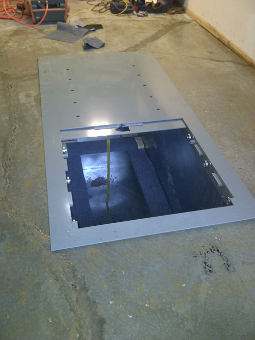 Garage Floor Storm Shelters : Garage floor shelter photos arkansas storm shelters