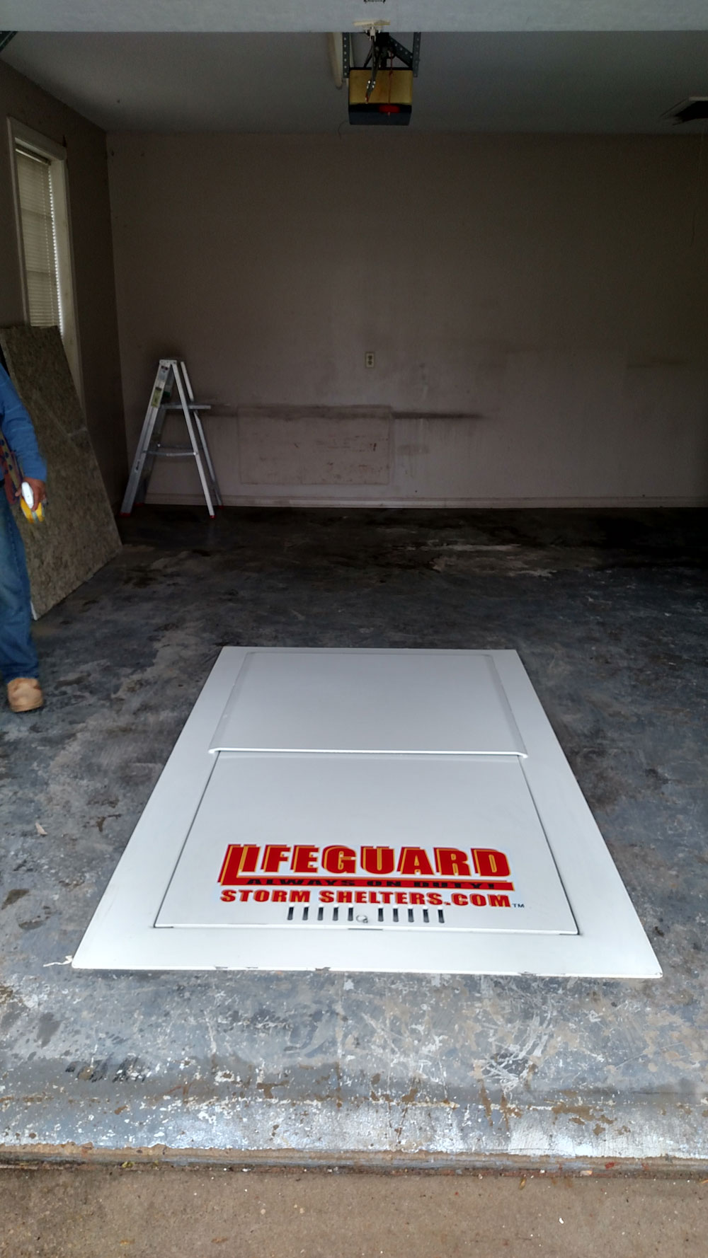 Garage Floor Storm Shelters : Garage floor shelters pre existing homes photo gallery