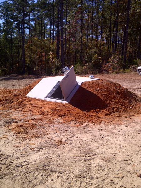 Slope Front Storm Shelter Photo Gallery In Arkansas