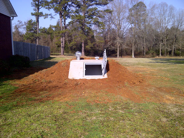 Slope Front Storm Shelter Photo Gallery